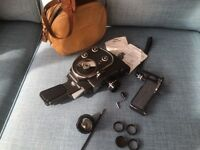 Vintage cine camera and accessories