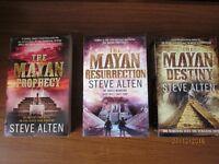Mayan trilogy paperback books by Steve Alten Mayan Prophrecy; Mayan Resurrection; Mayan Destiny