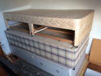 3x single divan beds with mattresses