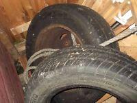 two transit van tyres