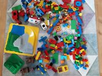 Duplo big bundle ALL IN PICTURE base, blocks, figures, animals and vehicles