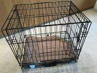 """Black """"Scuffs"""" Pet Cage with tray and cushion H20in/51cm W17in/43cm L24in/61cm R136"""