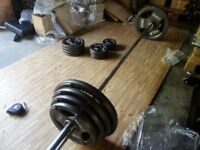 140 Kg Olympic weights Plate Set and Foldaway Weight Bench