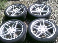BMW FITMENT SET 4 ,,18 ALLOYS,STAGGERED