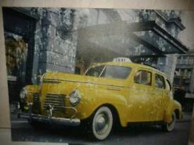 Large size Yellow Cab Canvas