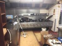 Chinese wok cooking range