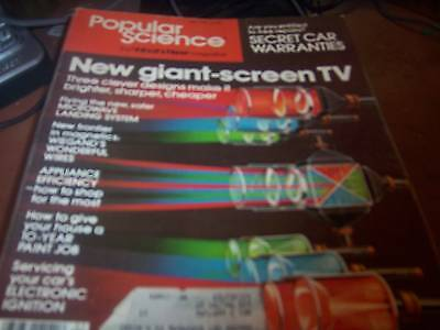 Popular Science May 1979 New Giant Screen Tv