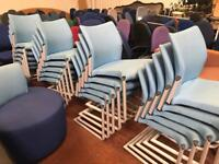 Powder Blue Stackable Canter Leaver Chairs