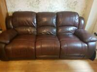 3 seater and 2 seater recliner couches