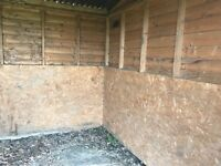 Horse field shelter / stable on skids