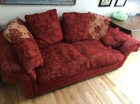 Red and Gold Tapestry Sofas