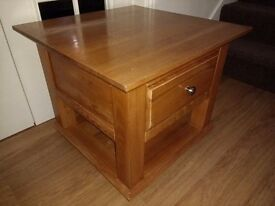 Coffee Table solid and sturdy with draw
