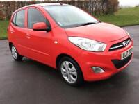 HYUNDAI I10 1.2 ACTIVE 5d 85 BHP ONE LADY OWNER FROM NEW, FSH (red) 2012