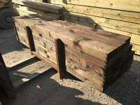 🦉 •New• Tanalised Wooden/ Timber Railway Sleepers ~ Brown