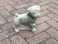 Concrete garden pug dog ornament