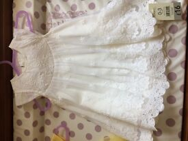 Bnwt Dress for wedding christening size 0-3 months