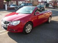 vw eos. 1.6 fsi convertible.2007 , 80,000 mile. 2 0wners full s/history
