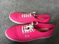 Women's pink vans size 7.5