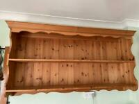 Fab large solid pine farmhouse shelf unit shelves