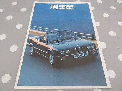 BMW 320i 325i Cabriolet FRENCH brochure prospekt catalogue folder