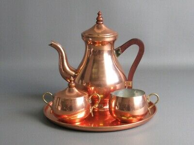 Argy Europe Vintage for Leisure Tea Coffee' with Tray Copper Design Years' 60