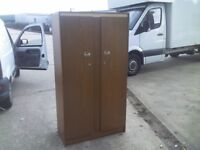 SMALL DOUBLE ALBRO WARDROBE WITH SHELVING AND KEY