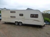 Bailey Senator Carolina 6 Berth with twin motor mover and 2.7m deep awning