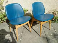 Vintage Retro 1960/70s Clam Chairs Retro Seating Atomic Retro Clam Chairs