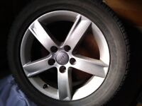 VW Alloy Wheels and winter tyres