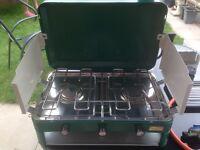 Camping stove two burner