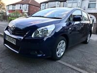 2009 TOYOTA VERSO 1.8 PETROL-7 SEATER NEW SHAPE,84000 LOW MILES,MOT 25-06-2019 (NO ADVISORIES)