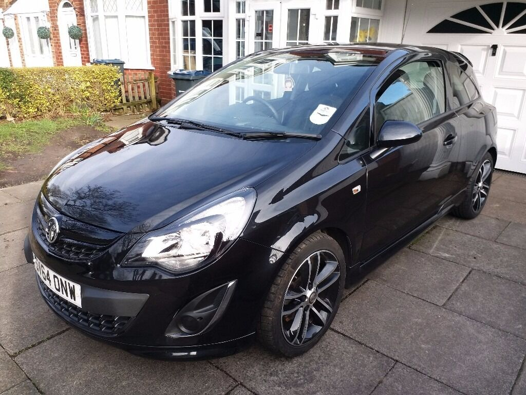 2014 64reg vauxhall corsa turbo 1 4 i 16v black edition 3dr start stop a c in hodge. Black Bedroom Furniture Sets. Home Design Ideas