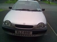 1999 Toyota Corolla for sale has a few age one years MOT