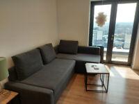 Nearly new, IKEA Friheten corner sofa-bed with storage