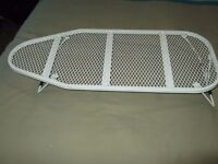 as new unused small white mesh table top ironing board
