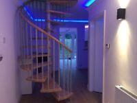 3 Bedroom semi, 2 bathrooms, Garden, Modern lighting, Spiral Staircase, fully refurbished