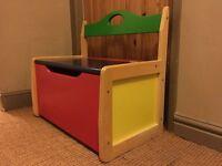 John Crane childrens toy chest/seat