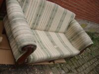 scroll end victorian style 3 seater loose cushion couch .benefit reupholsteryr