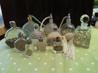 Perfume bottles with decorative metalwork