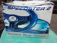 Steering Wheel & Pedals - Playstation, PS one & Playstation 2 compatible