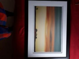 Sunset print framed and mounted signed by Ursula Apreda