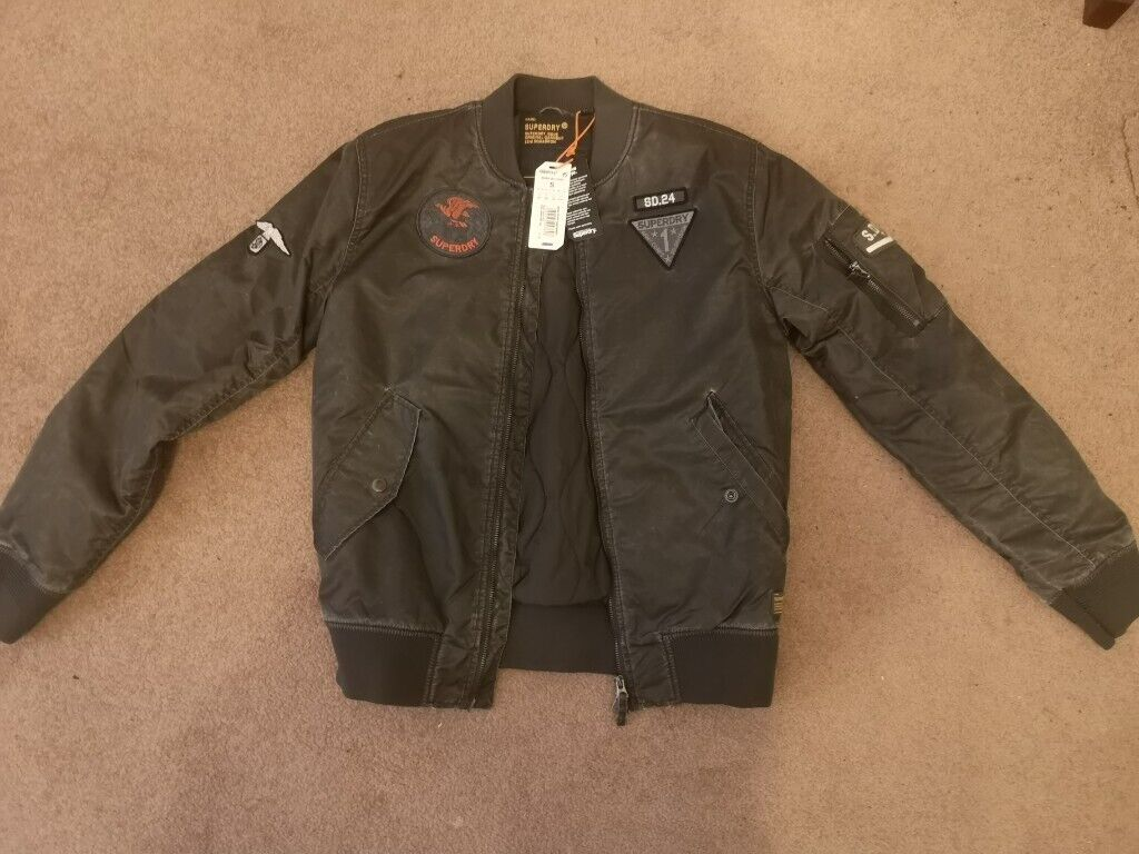9fb906102 Men's Superdry Limited Edition Flight jacket - small. | in Newport | Gumtree