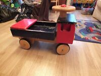 Large Solid Wooden Ride On Truck / Lorry