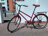 Female city bike (wine colour)