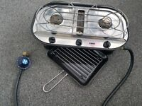 Camping stove with grill and Butane regulator