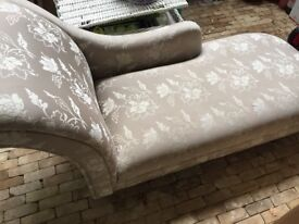 Laura Ashley - Hereford fabric chaise - left hand arm