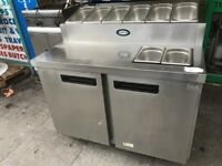 FULL SERVICED FOSTER PIZZA SALAD TOPPING MEZE FRIDGE CATERING COMMERCIAL KITCHEN CAFE KEBAB CHICKEN