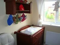 Sleigh style changing table
