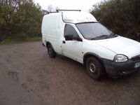 Vauxhall Combo, mot failure for spares or repairs