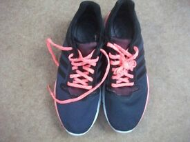 Adidas CC Fresh 2w Trainers UK 6.5 Dark grey with coral laces Climacool BNWT
